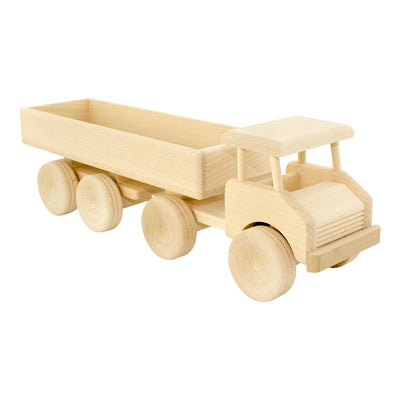 Wooden Toy Semi Trailer Truck For Kids