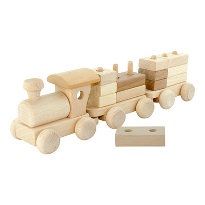 Wooden Train With Stacking Blocks - Esme