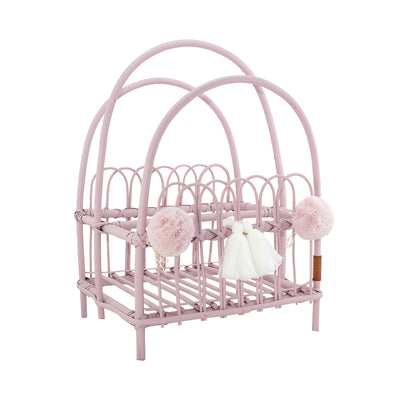 Wicker Book Stand - Pink