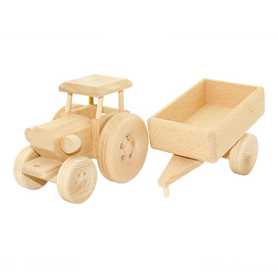 Large Wooden Tractor - Esther
