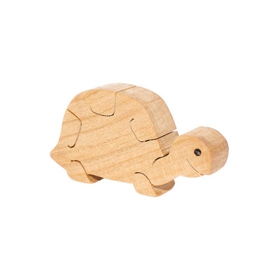 Wooden Turtle Figure