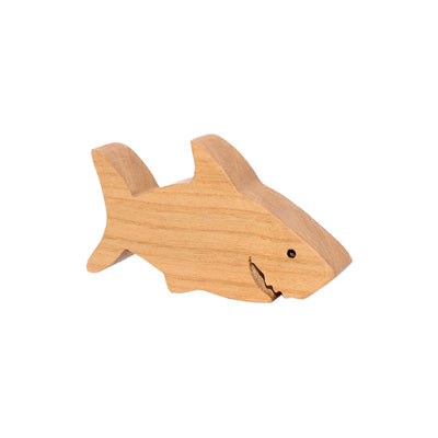 Wooden Shark Figure