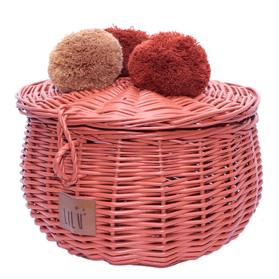Wicker Basket Large - Clay