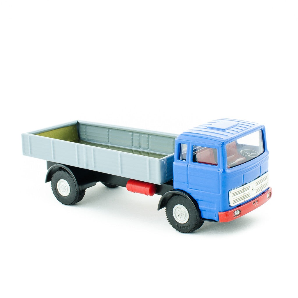 Tin toy dump truck classic toys toy trucks happy go for Mercedes benz truck toys