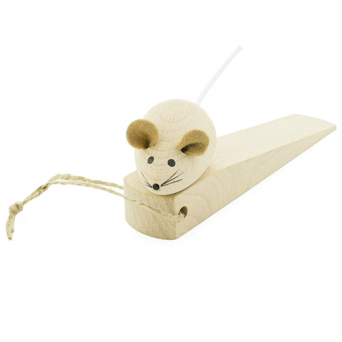 Wooden Door Stopper - Mouse