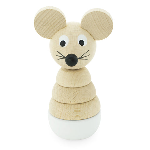 Wooden Toy Mouse Stacking Puzzle - Happy Go Ducky