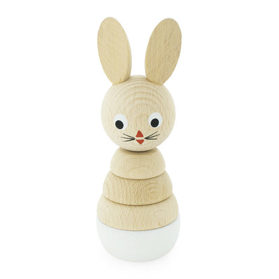 Wooden Rabbit Stacking Puzzle Toy