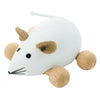Wooden Push Along Toy Mouse - Snowflake
