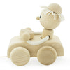 little wooden pull along car