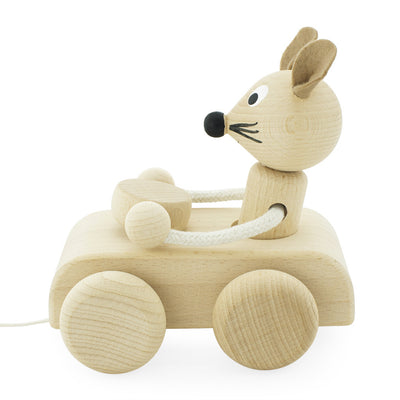 toy wooden push along mouse