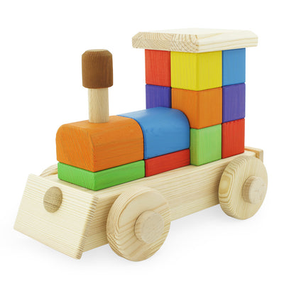 Wooden Block Train