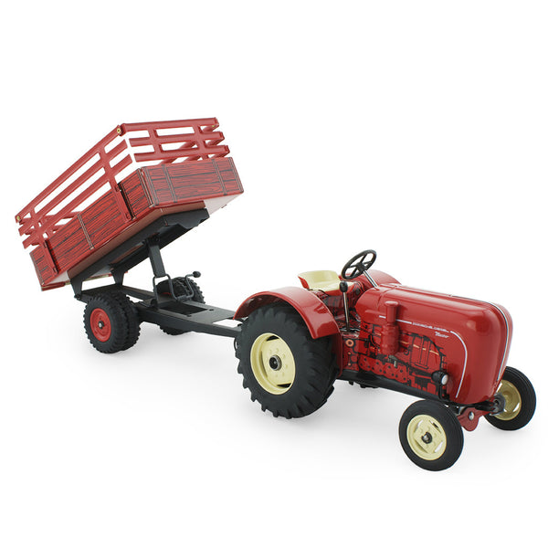 Tin Toy Hay Trailer - Red