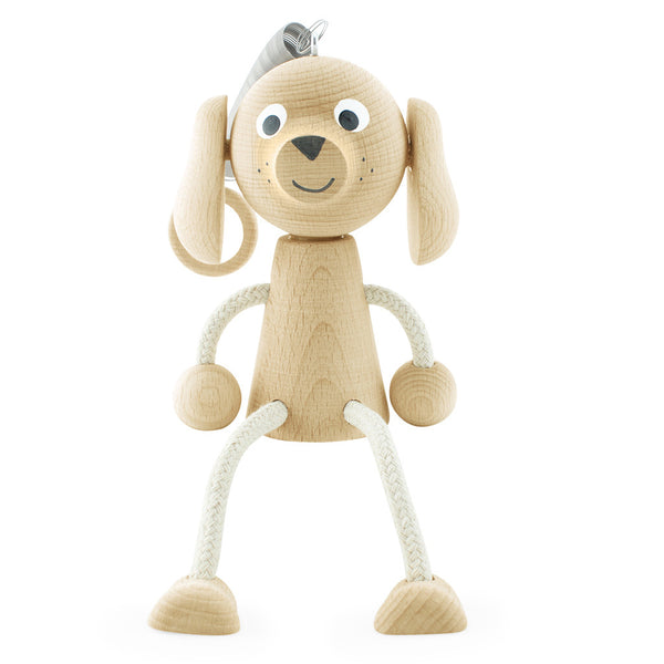 Wooden Spring Toy Puppy - Happy Go Ducky Toys
