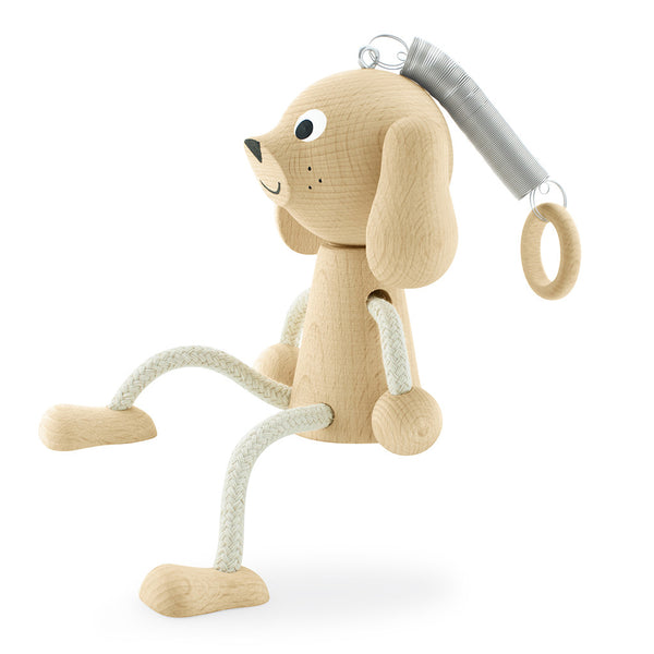 Wooden Dog Toy On Spring - Melody