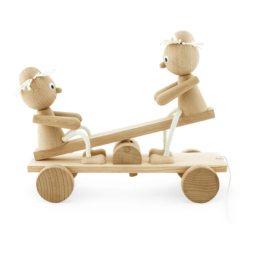 Retro Vintage Home Decor Wooden Pull Along See Saw Toy Pull Along Toys Toys For