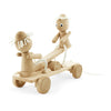 unique wooden pull along toys