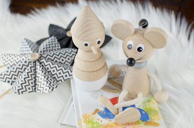 Wooden Mouse On Spring Toy