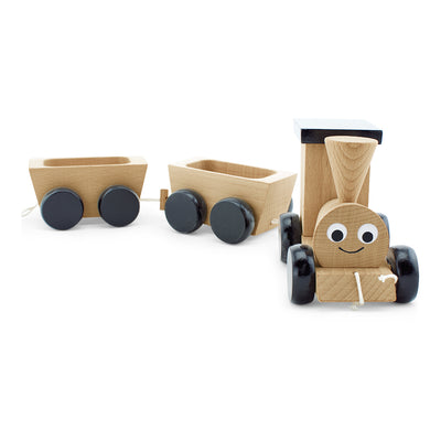 toy wooden steam train