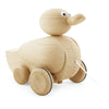 wooden pull along quacking duck toy