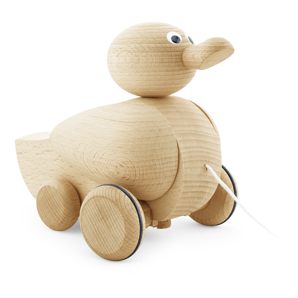 Wooden Toy Pull Along Duck | Happy Go Ducky