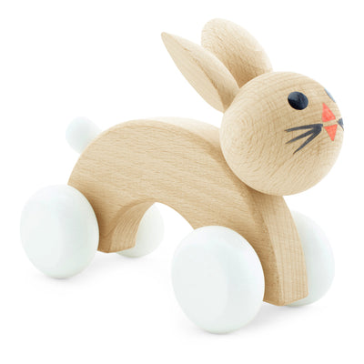 wooden push along toy bunnies