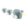 wooden pull along elephant family