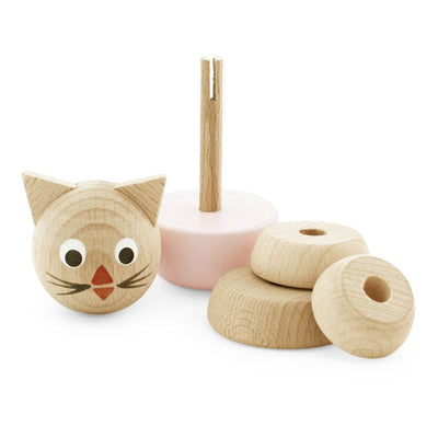 Victoria the wooden cat stacking puzzle