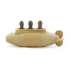 handcrafted wooden toy submarine