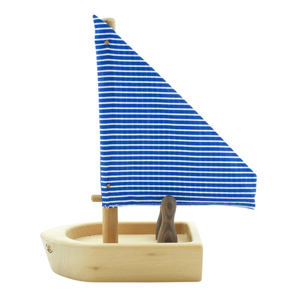 Children's Toy Wooden Boat With Passengers