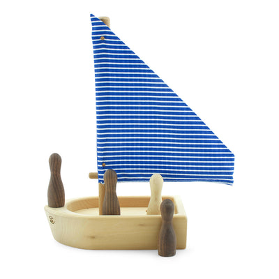 Toy Wooden Boat With Passengers - Hobie