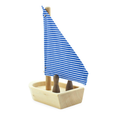 Wooden Boat Toy With Passengers