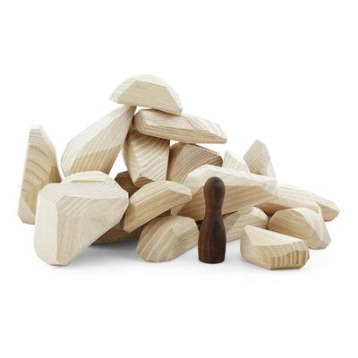 Wooden Stackable Balancing Rocks Children's Developmental Toy