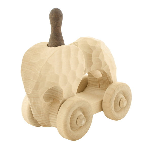 Wooden Push Along Toy Elephant | Happy Go Ducky