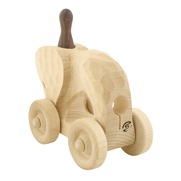 Wooden Push Along Elephant - Elsa