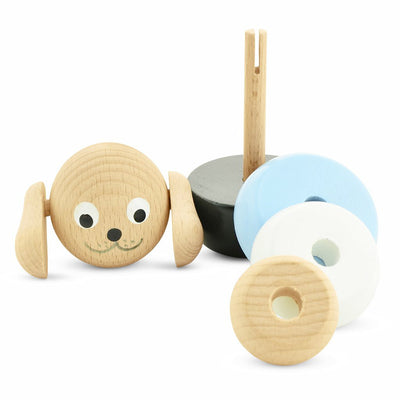 Wooden Stacking Puzzle Toy Dog - Brody