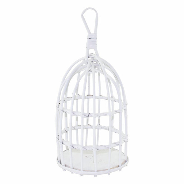 Wicker Cage - White