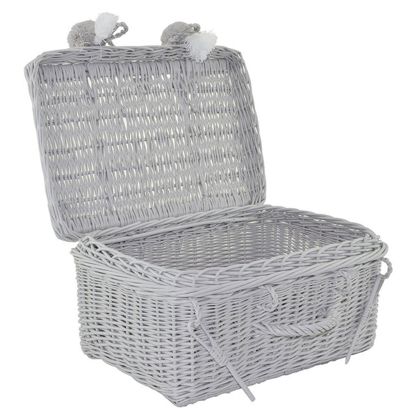Wicker Suitcase - Grey