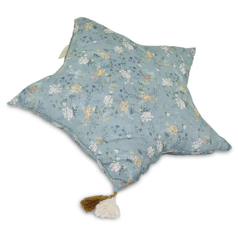Muslin Star Pillow Large - Green Branches