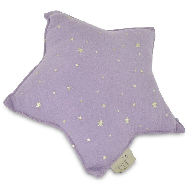 Muslin Star Pillow Small - Heather