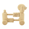 wooden push along toy dog with counting beads