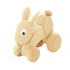 wooden pull along toy bunny rabbit