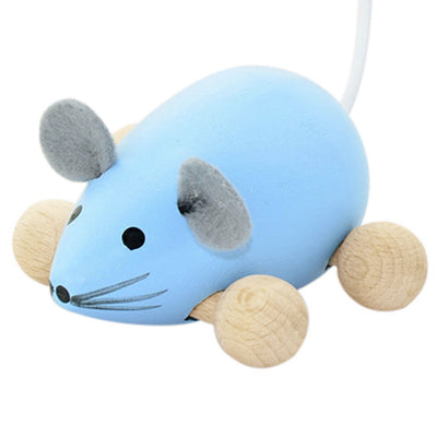 Wooden Push Along Mouse - Dante