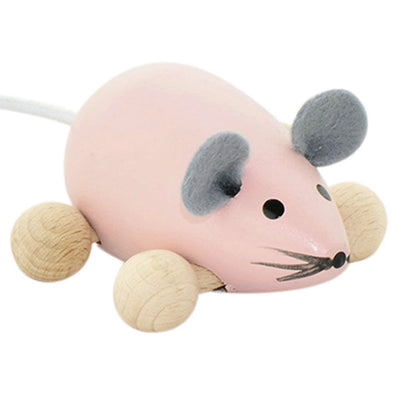 Wooden Push Along Mouse - Daphne