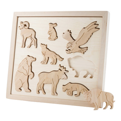Wooden Sorting Puzzle - Animals Of North America