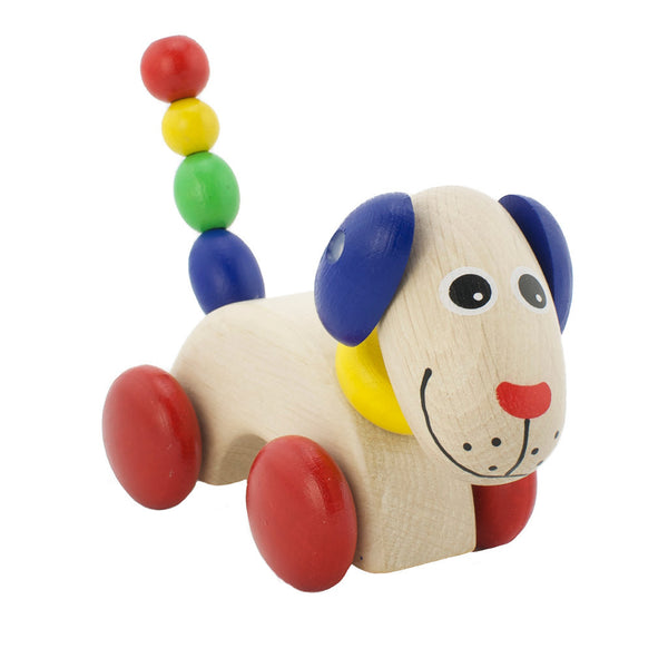 Wooden Push Along Dog - George