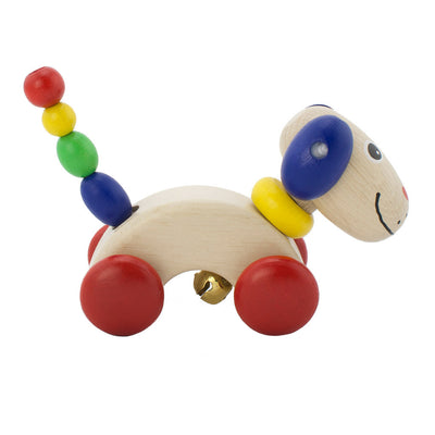 Wooden push along toy dog George