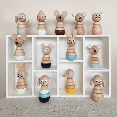 Wooden Mouse Stacking Puzzle - Murphy