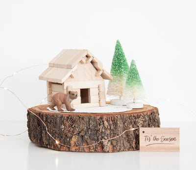 handmade wooden building puzzles
