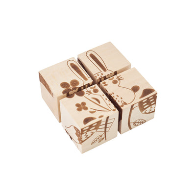 Wooden Cube Puzzle - Animals