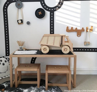 Large Wooden Toy Dump Truck